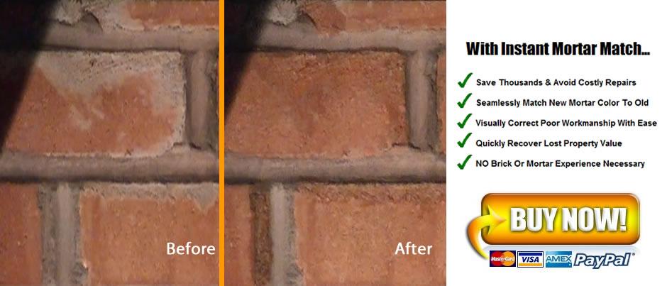 Instant Mortar Match - Brick dye lowes